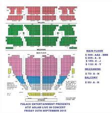 Music Hall Seating Chart Detroit Mi Music Sensation Atif Aslam Live In Concert Detroit Mi At