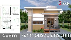 House Design House Design Plans 6x8 With 2 Bedrooms Sam House Plans