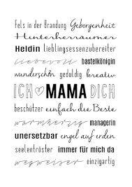 Dekoration Muttertag Typo Kunstdruck Mama Ist Die Beste Ein