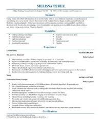 nanny resume samples ...