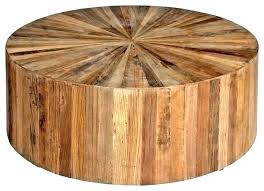 wood drum coffee table round side awesome signal hills vince reclaimed moroccan trellis