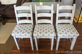How To Reupholster A Chair Seat The NoMess Method The Thinking Delectable Reupholstered Dining Room Chairs