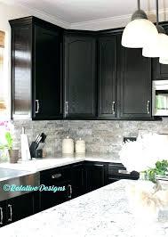 interior black cabinets white quartz countertops dark