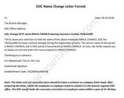 How To Change Correction Employee Name In Esic Portal Letter