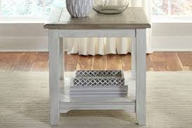 Amusant White Washed Wood End Tables Home Oak Images Legs Tod Depot