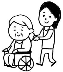 車椅子に乗ったおばあさんのイラスト介護 ゆるかわいい無料イラスト