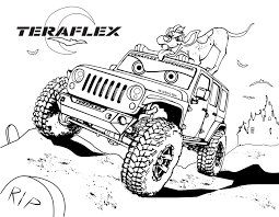 Small Picture Gallery TeraFlex Jeep Coloring Pages TeraFlex