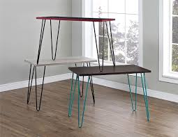 This chic desk with vibrant, adorable hairpin legs that'll help modernize  your space.