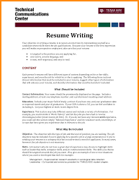 Writing Resume Objective Resume With Glasses Pretty Ideas