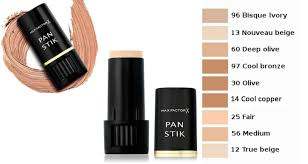 Max Factor Pan Stick Colour Chart Details About Max Factor Pan Stik Panstik Foundation 9g Choose Yours