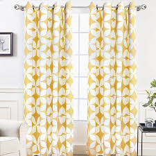 Geometric Pattern Curtains Simple Bright Mustard Yellow And White Geometric Pattern Modern Curtains