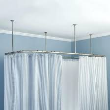 shower curtains shower curtain tracks bathroom inspirations in ceiling mounted shower curtain rails uk prepare