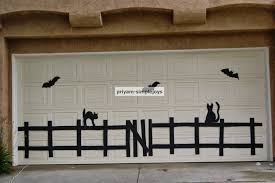 Halloween Garage Door Decorations elegant halloween decorations Set ...
