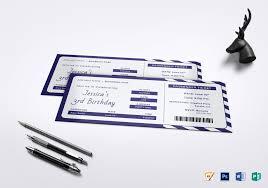 Invitation Ticket Template Birthday Boarding Pass Invitation Ticket Design Template in PSD 44