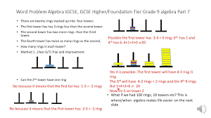 word problem algebra igcse gcse higher foundation tier grade 9 algebra part 7 you