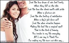 Thank You Poems For Wife Wishesmessages Com