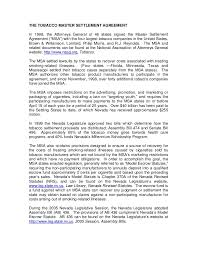 Master Settlement Agreement Fascinating Taxstatenvus Documents Introduction%48to%48MSA%48and%48Legislation