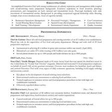 Chefe Sample Complete Guide Exampleses Chef Resume Format Free