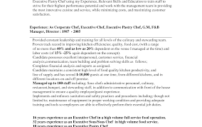 Charming Pastry Chef Resume Skills Images Entry Level Resume