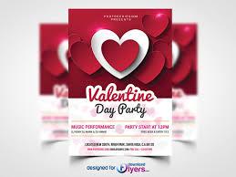 Valentines Flyers Valentine Day Party Flyer Free Psd Flyer Psd