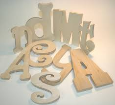 Individual Unpainted Wooden Letters-unpainted wall letters,wood letters,unfinished  wood products,