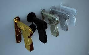 gun grip door handles geekologie