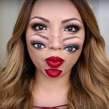 unique makeup ideas with double vision theme