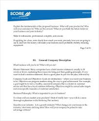 Startup Business Plan Sample Sample Software Business Plan Template 7 Free Documents