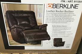 berkline leather rocker recliner chair stylish and comfortable