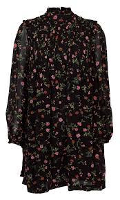 Elm Design Clothing Ganni Elm Georgette Black Dress