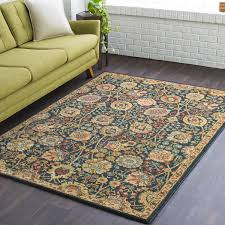 teal and brown area rug wayfair ca for rugs design 12