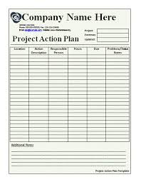 Remarkable Template Form Of Action Plan With Complex Table ...