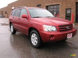 2002 Sundown Red Pearl Toyota Highlander I4 #7349608   GTCarLot ...