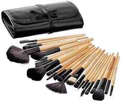 amazon brand solimo makeup brush set 24 pieces with pu leather case
