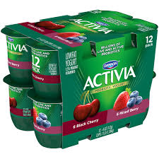 activia lowfat mixed berry black cherry yogurt 4 oz 12 count walmart
