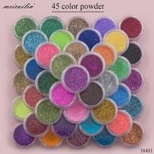 wholesale <b>45 pcs Set</b> Sugar Acrylic Nail Glitter Powder Pigment ...
