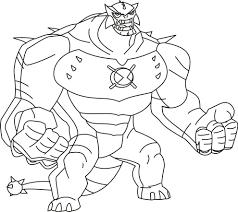 Ultra Omosauro Personaggio Ben 10 Cartoon Network Da Colorare