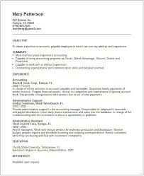 Objective Section Resume Accounts Payable Classy Photo Studiootb