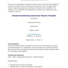 Resume For Housekeeping Room Attendant The Brilliant Resume For