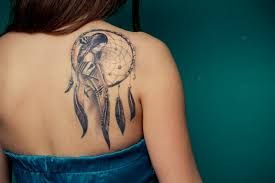 Cute Dream Catcher Tattoos Cute Girl Right Back Shoulder Dreamcatcher Tattoo 69