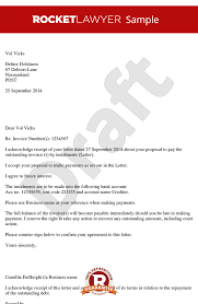 Letter Of Agreement Samples Template Enchanting Letter Accepting Payment In Instalments Instalment Agreement