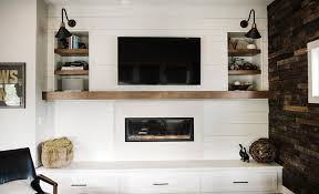 suburban es emily henderson design agony fireplace white redesign makeover brick 77 edited