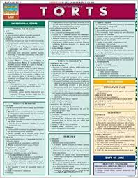 Quick Study Charts Torts Laminate Reference Chart Quick Study Law By