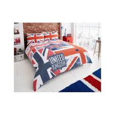 denim flag union jack modern duvet quilt cover bedding set