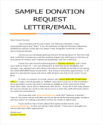 Sample Donation Request Letter1