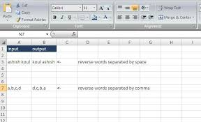 Excel VBA Codes & Macros: Use Split Function in UDF to reverse the words  separated by space or any other special character