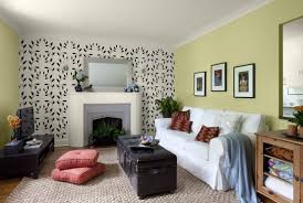Wall Hanging For Living Room Living Room Accent Walls Comfy U Shaped Sofa Modern White Sofa