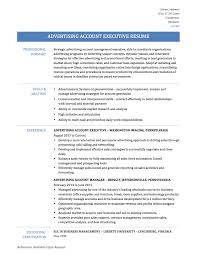 advertising account executive resume tips templates and samples advertising account executive