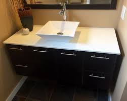 picture of how to install a wall hung vanity