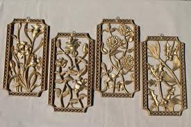 turner wall art set vintage gold rococo plastic wall plaques four seasons on antique gold metal wall art with turner wall art set vintage gold rococo plastic wall plaques four